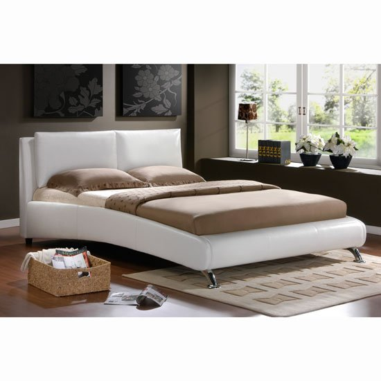 Beds Carnaby White Bed in Faux Leather