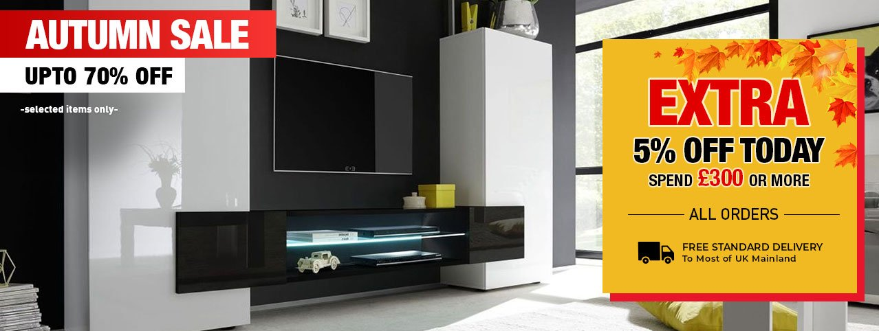 Up To 70% off TV stand furniture, huge clearance of entertainment units.