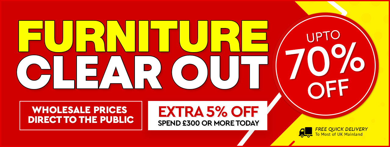 Largest online furniture sale! Warehouse Clearance on 1000s of lines. Up to 70% off discounts