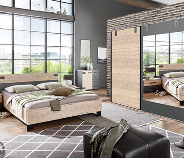 Check out our beautiful and modern collections of bedroom furniture sets! Wardrobes, beds & bedside cabinets.