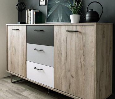 Find the perfect wooden, glass or gloss sideboards & cabinets for your living room