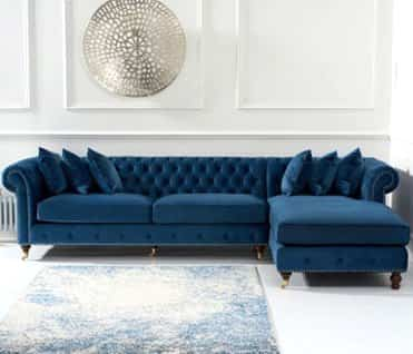 Discover stunning and comfortable fabric and leather sofas for your living room