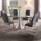 6 seater glass dining table and chairs, 6 seater glass dining table set