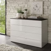 chest of drawers, wooden chest of drawers, white chest of drawers