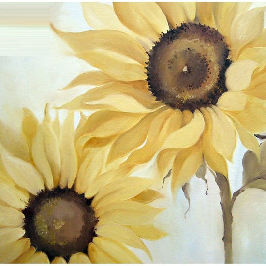yellow sunflower wall art 7073 furniture in fashion. Black Bedroom Furniture Sets. Home Design Ideas