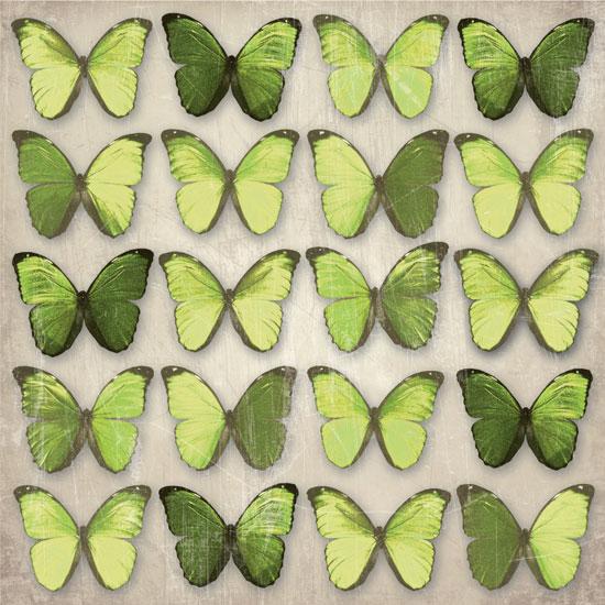 000811 Green Butterflies - What Makes Up Preschool and Nursery Furniture