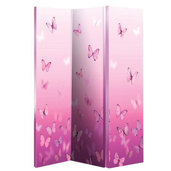 Butterfly Pink Room Divider In Canvas