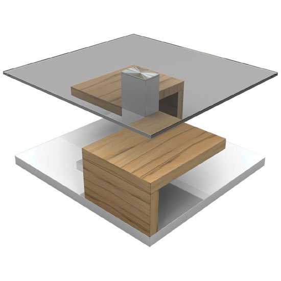 Mdf Cheap Price Coffee Table White High Gloss Center Table: Sara Clear Glass Coffee Table With Gloss White And Melamine