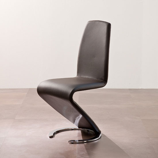 Read more about Swing ii metal swinging brown real leather dining chair