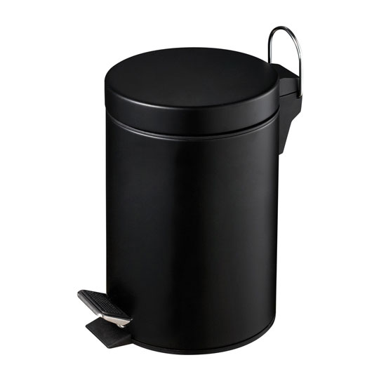 3Ltr Pedal Bin In Matt Black