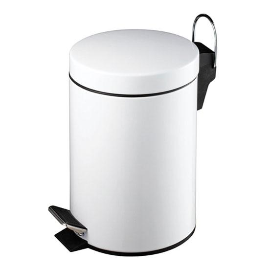 3Ltr Pedal Bin In White