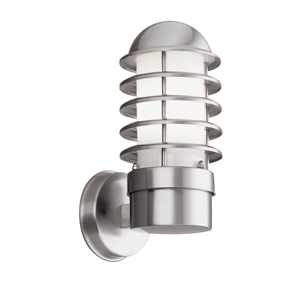 Contemporary Stainless Steel Outdoor Wall Light