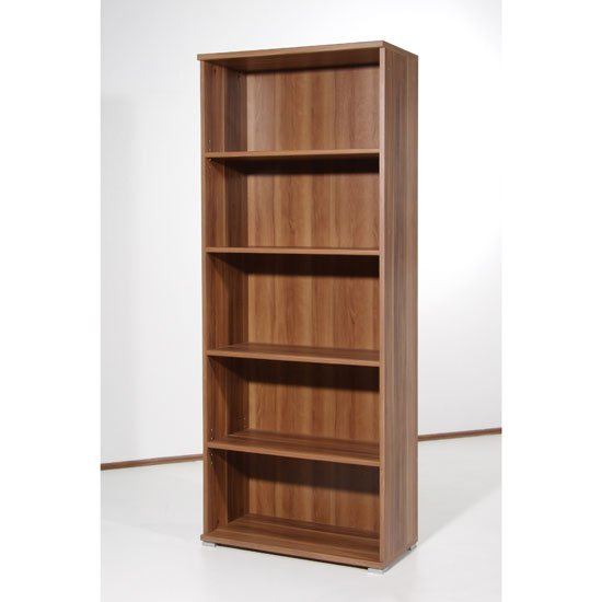 Space 5 Tier Shelving Unit In Walnut