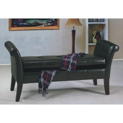 ottoman storage stool brown leather 2
