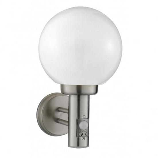 Orb Lanterns Outdoor Light With Satinless Steel Wall Bracket