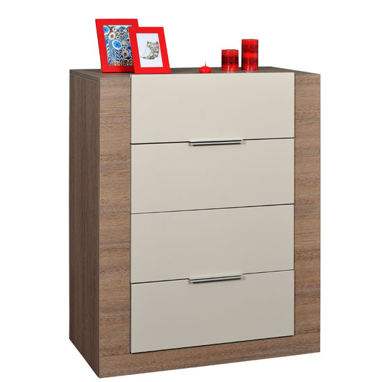 Azura Chest of Drawers In Oak And High Gloss