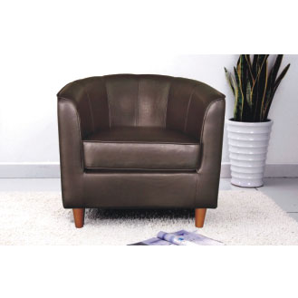1011 brn leather furniture tub chair - Youth Size Tub Chairs, Perfect Play Table Mates
