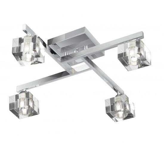 Read more about 4 light sculptured cube semi flush ceiling light