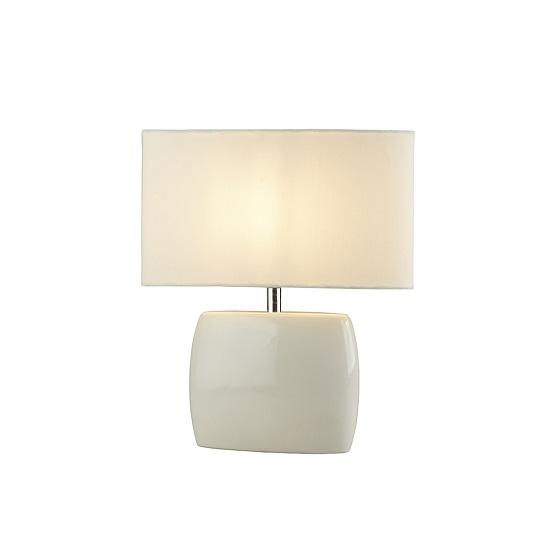 Bravo Ceramic Base In Cream Shade Table Lamp