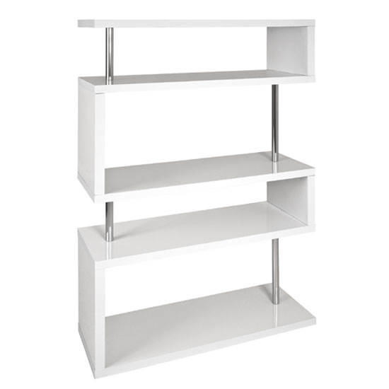 Miami slim high gloss shelving unit white buy modern for Furniture in fashion