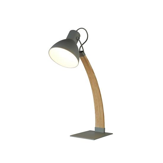 Nanna Ash Wood In Matt Grey Table Lamp