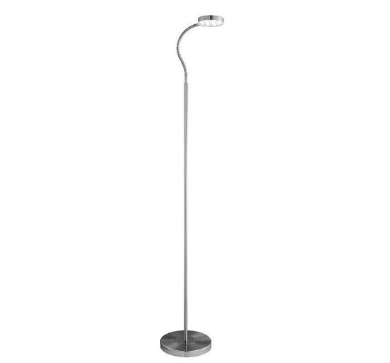 Adjustable Led Satin Silver Round Head Floor Lamp