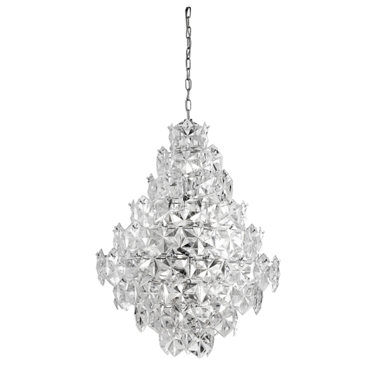 11 Lights Pendant Ceiling Light With Acrylic Detail Trim