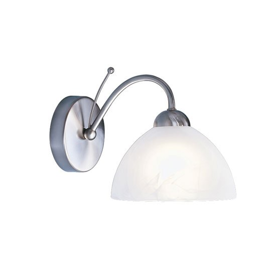 Milanese Satin Silver Single Wall Light