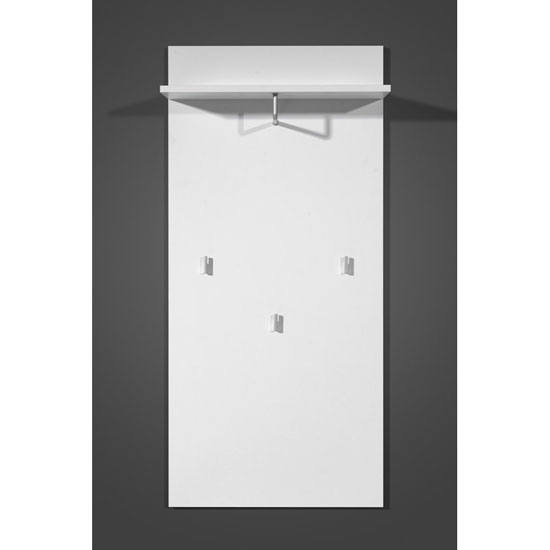 Mediano White Wall Mounted Hallway Stand