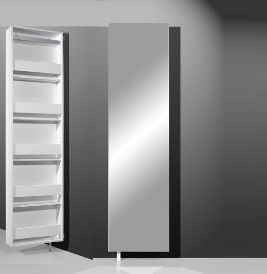 egmore mirrored rotating bathroom storage cabinet in white