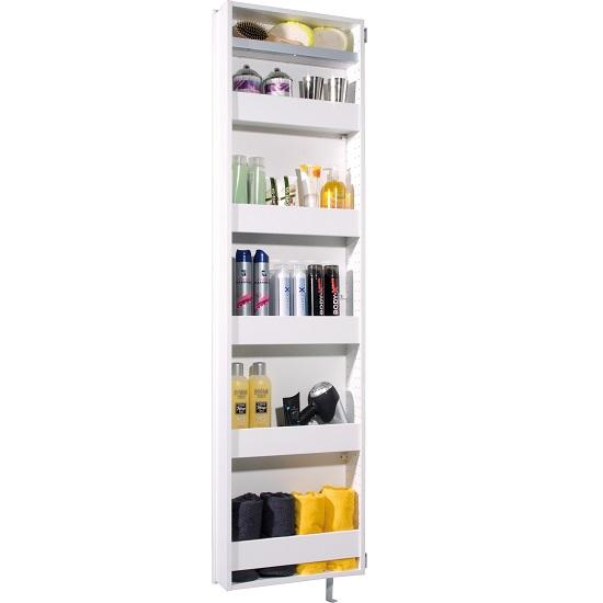 egmore mirrored rotating bathroom storage cabinet in white 2