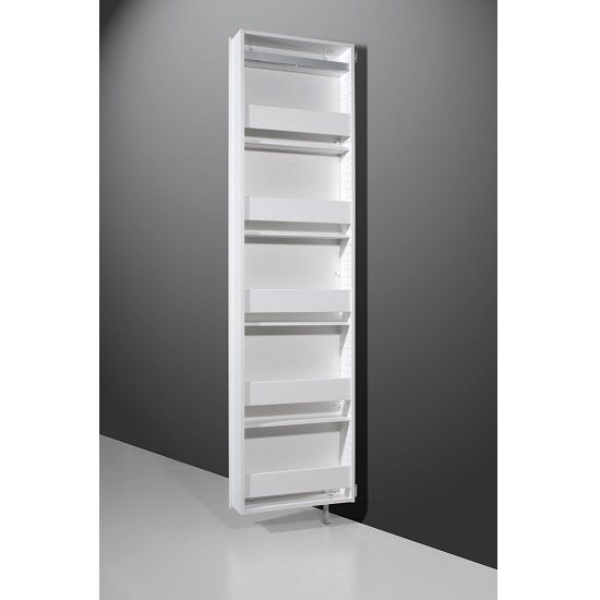 Igma Mirrored Rotating Shoe Storage Cabinet In White_2