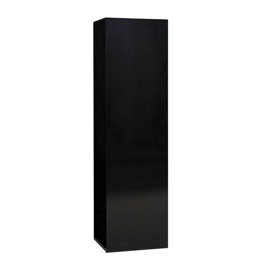 Elisa Wall Cupboard In High Gloss Black With 1 Door_1