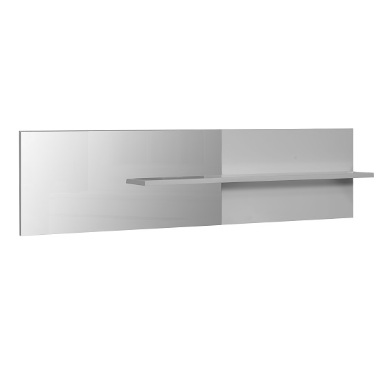 Elisa Wall Mirror with Shelf In White Lacquer_1