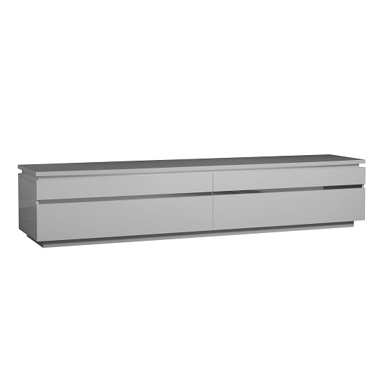Elisa Contemporary LCD TV Stand In White Lacquer With Lights_2