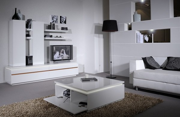Elisa Coffee Table Square In High Gloss White With Storage_6