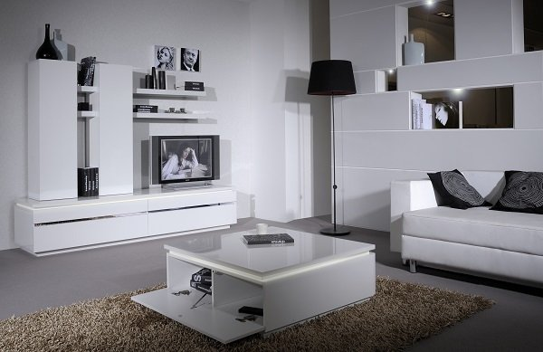 Elisa Coffee Table Square In High Gloss White With Storage_7