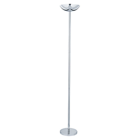 Uplighter chrome floor lamps with sliding dimmer switch for Uplighter floor lamp dimmer switch