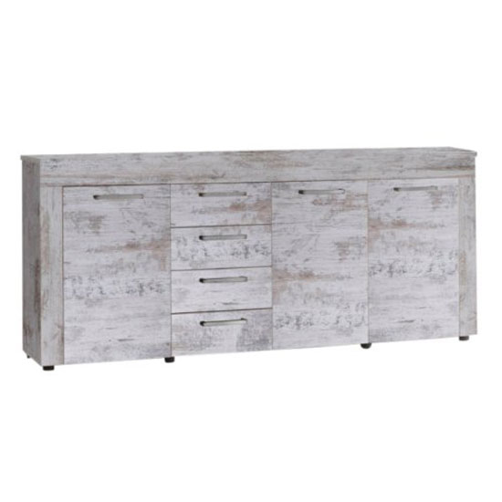 River Sideboard In Canyon White Pine With 3 Doors And 4 Drawers