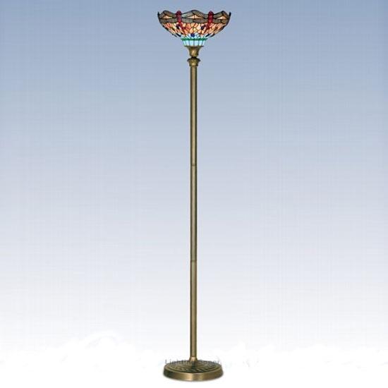 Dragonfly Tiffany Floor Lamp 33172 Furniture In Fashion
