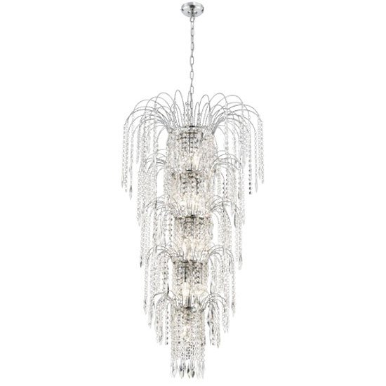 Waterfall Crystal Chandelier Ceiling Light