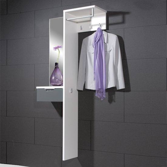 Read more about Viva gloss white and basalt grey mounted hallway stand