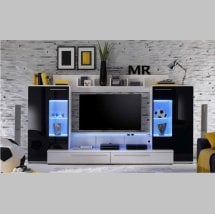Read more about Hightec living room furniture set in white and black