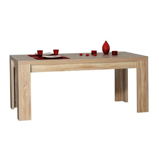 Lucena Light Oak Finish Rectangular Dining Table Only