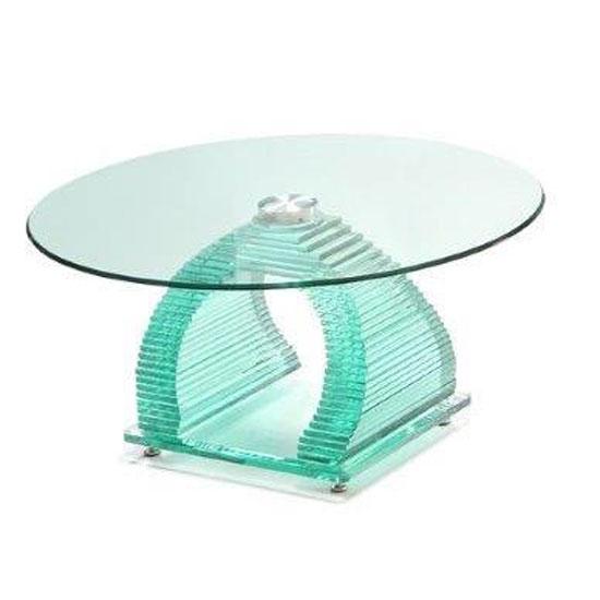 Iceman Round Glass Coffee Table