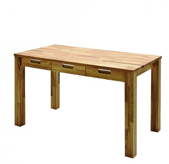 Read more about Cento 1 computer desk in knotty oak with 3 drawers