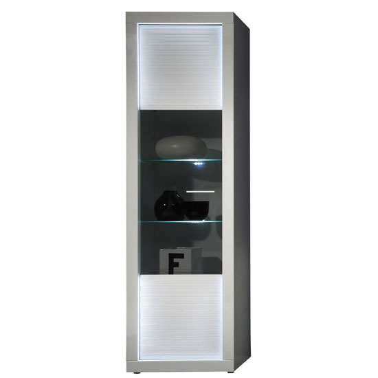 Starlight Display Cabinet High In White High Gloss With LED