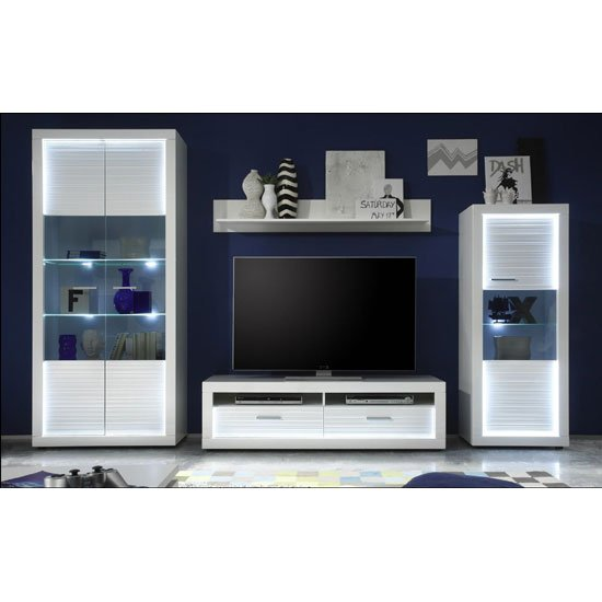 Starlight Living Room Furniture Set 1 In White Gloss With