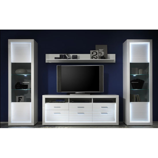 Read more about Starlight living room furniture set 2 in white gloss with led