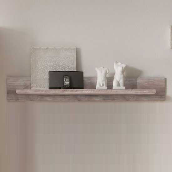 Montreal Wall Mounted Display Shelf In Monument Canyon Oak